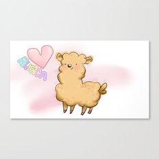 Heart Alpaca Canvas Print