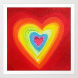 Rainbow Heart Love Art Print