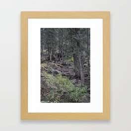 Forest Hunting Framed Art Print