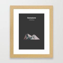 Gemstone - Unobtanium Framed Art Print