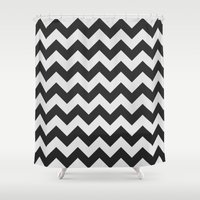 chevron Shower Curtains featuring Chevron by NobuDesign