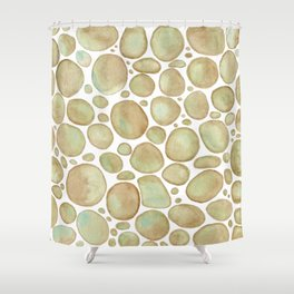 Bubbles/Rcks Brown Shower Curtain