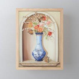 Blue Willow Niche Framed Mini Art Print