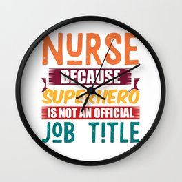 Nurse Superheroine Profession Wall Clock