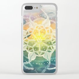 universes sunset Clear iPhone Case