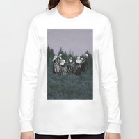 dancing Long Sleeve T-shirts featuring DANCING. by Mrs Araneae