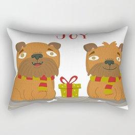 Brussels Griffon Peace , Love, Joy Rectangular Pillow