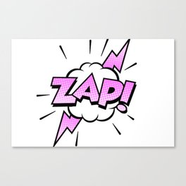 Zap Typography! Canvas Print