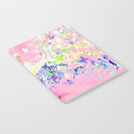 Butterflies dress petal pink Notebook