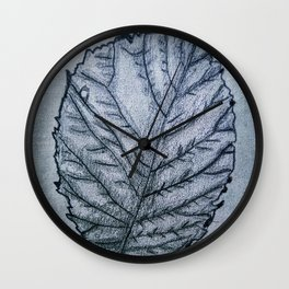 b&w leaf Wall Clock