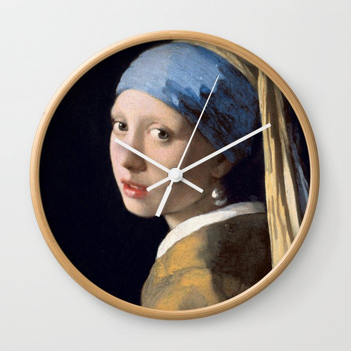 Girl With a Pearl Earring - Vermeer Wall Clock