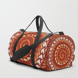 Retro Abstract 60s 70s Polynesian Tattoo Design Vintage Red Duffle Bag