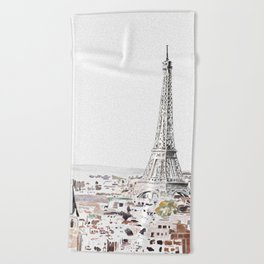 Paris Beach Towel