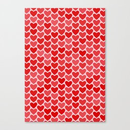 Hearts Canvas Print