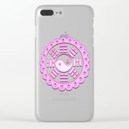 Ying yang,tai chi, pink and white,chinese spirituality,chi,energy,positive,negative,energier Clear iPhone Case