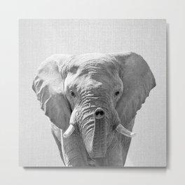 Elephant - Black & White Metal Print