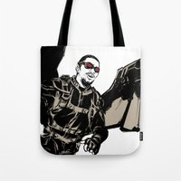 millenium falcon Tote Bags featuring Falcon by Irene Flores