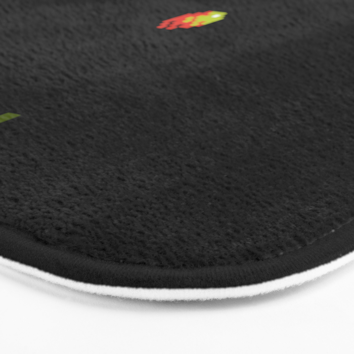 SATURN AND ASTEROIDS Bath Mat