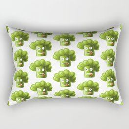 Funny Broccoli Pattern Rectangular Pillow