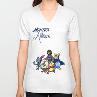 allison argent V-neck T-shirts featuring PokeWolf: Allison Argent by Trickwolves