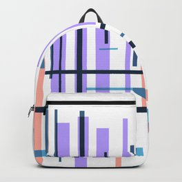 Purple blue abstract pattern stripes Backpack