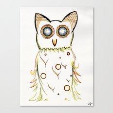 Faux Flammulated Fauna Canvas Print