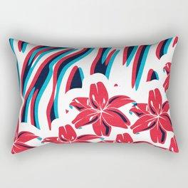 Lillys and Zebras Rectangular Pillow