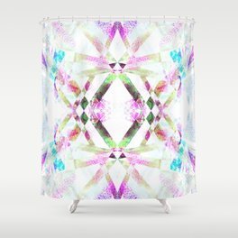 Kaleidoscopic .01 - Fractal Festival Style Shower Curtain