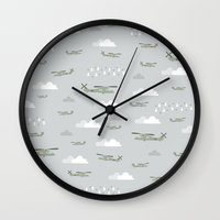 blackhawks Wall Clocks featuring Hawks and things by Let it Rain