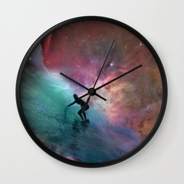 Nebulous Surfing Wall Clock