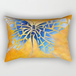Tropenillo V1 - the blue butterfly Rectangular Pillow