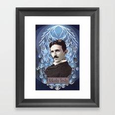 Nikola Tesla poster - Paper art print Framed Art Print