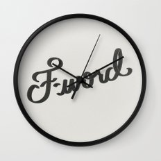 F-word Wall Clock
