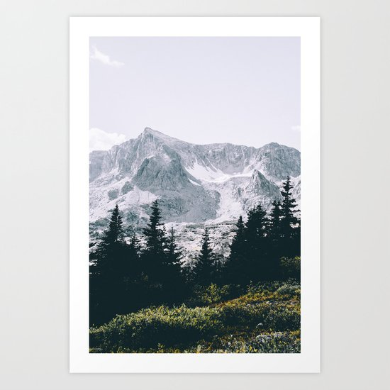 Mountains #faded Art Print