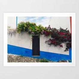 Doorways in Óbidos, Portugal Art Print