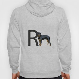 R is for Rottweiler Dog Hoody