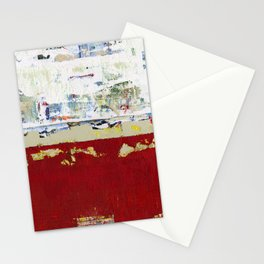 Ragged Glory Red Abstract Landscape Stationery Cards