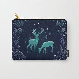Deers in the Moonlight - Frosted Mint Carry-All Pouch