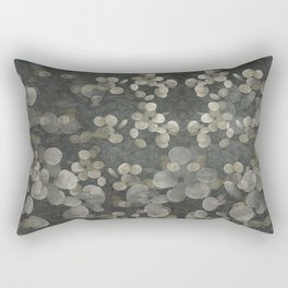 """Nacre pearls on silver river"" Rectangular Pillow"