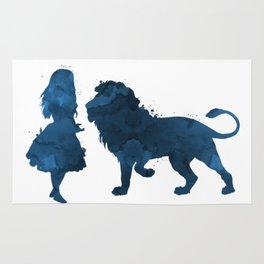 Lion and girl Rug