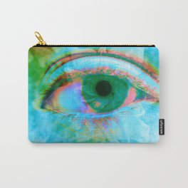 Eye in Bloom [Blue] Carry-All Pouch