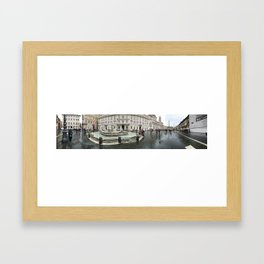 3 legged man in Piazza Navona Rome Italy Framed Art Print
