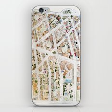 Greenwich Village Map by Harlem Sketches iPhone & iPod Skin