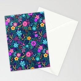 Folk floral pattern Stationery Cards