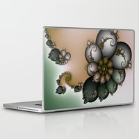 novelty Laptop & iPad Skins featuring Trinket Flower Fractal by Moody Muse