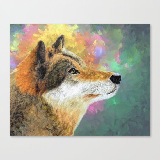 Abstract Wolf Painting Canvas Print