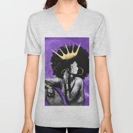 Naturally Queen VI PURPLE Unisex V-Neck