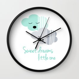 Sweet dreams little one Wall Clock
