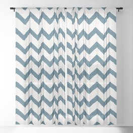 Chevron Teal Sheer Curtain