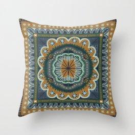 Winter Symmetric Pattern Throw Pillow